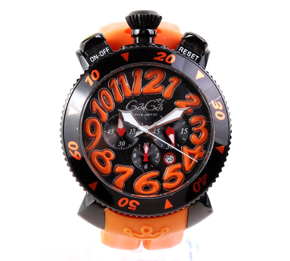 【美品】GAGA Milano/ガガミラノ Manuale/マヌアーレ イタリア産 ステンレス 48mm 機械式手巻き 腕時計#hk8474