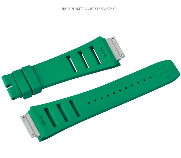 Richard Mille リチャード・ミラー RM010 RM029 用 ベルト Vagenari ラバー ウオッチ ストラップ グリーン 緑 Green