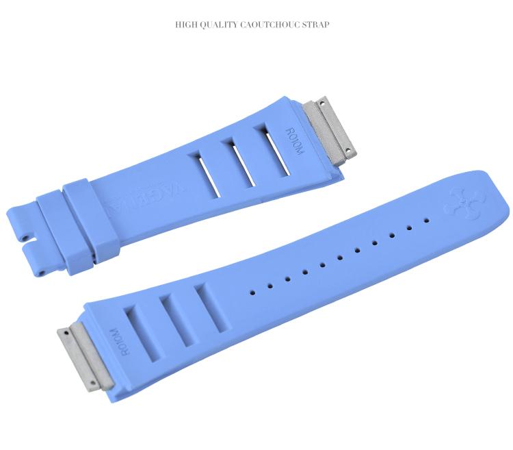 Richard Mille リチャード・ミラー RM010 RM029用ベルト Vagenari ラバー ウオッチ ストラップ ブルー 青 Blue