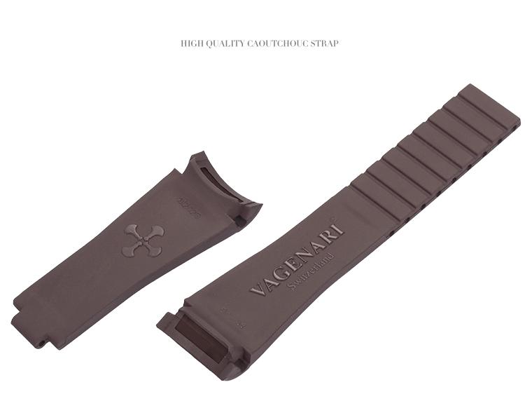 Rolex/ロレックス/ MasterII/マスターII GMT 116710、16710適用 VAGENARI ラバー ストラップ/ベルト ブラウン