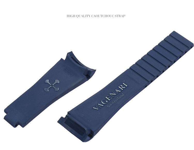 Rolex/ロレックス/ MasterII/マスターII GMT 116710、16710適用 VAGENARI ラバー ストラップ/ベルト ブルー