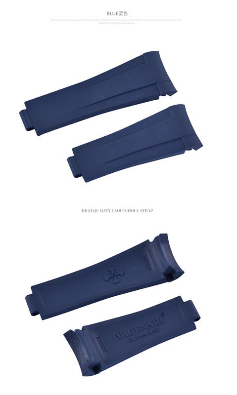 Rolex Submariner/ロレックス サブマリーナー 116610 116613 114060 レディース適用 VAGENARI ラバー ストラップ/ベルト ブルー