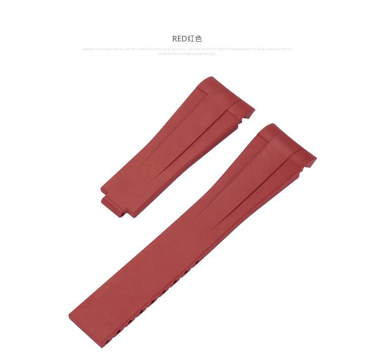 Rolex/ロレックス/ MasterII/マスターII GMT 116710、16710適用 VAGENARI ラバー ストラップ/ベルト 赤