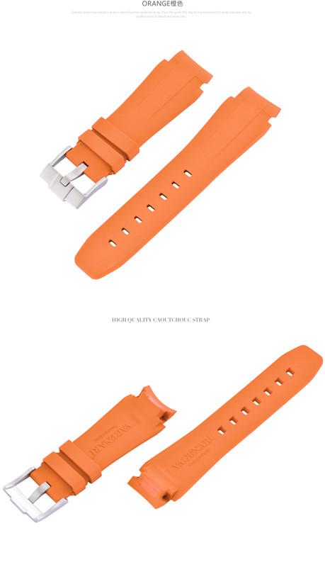 お買得 Rolex ロレックス DeepSea ディープシー 44mm 116660に適用VAGENARI ストラップ ベルト オレンジ ラバー バックル付き ご注文で当日配送