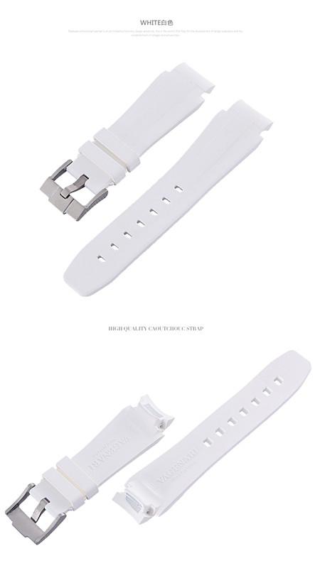 Rolex/ロレックス DeepSea/ディープシー 116660適用VAGENARI ラバー ストラップ/ベルト バックル付き ホワイト