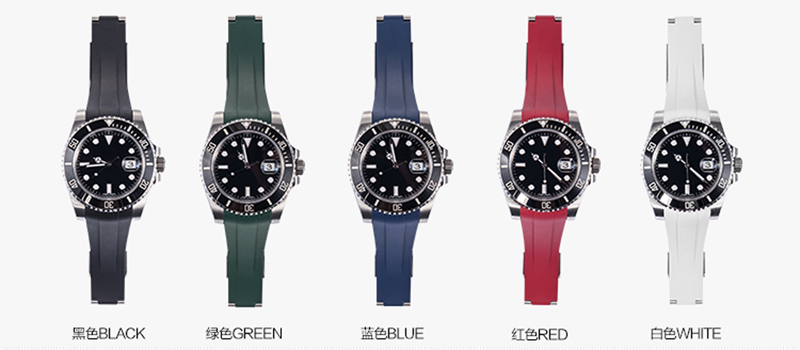 ロレックス/Rolex サブマリーナー/Submariner 116610、114060適用 VAGENARIラバー ストラップ/ベルト ブルー