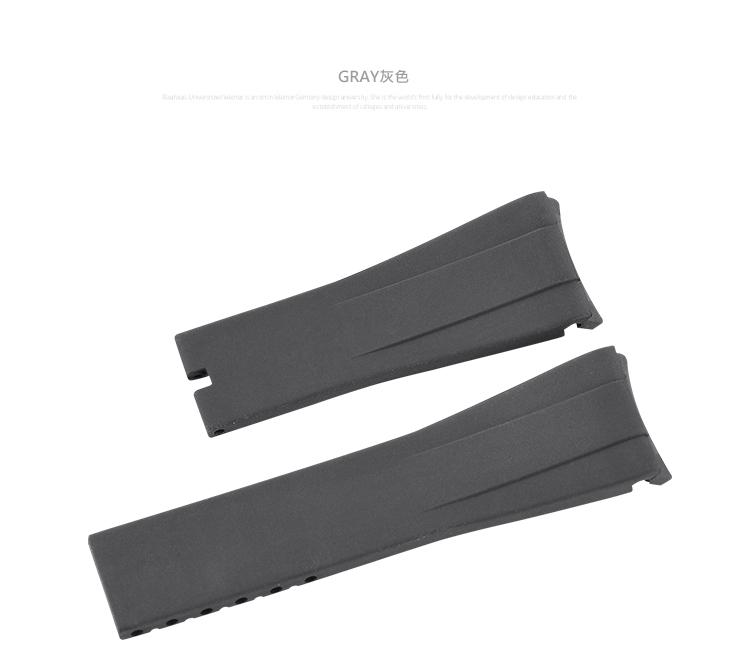 ロレックス/Rolex デイトナ/Daytona 116515適用 Vagenari ラバー ウオッチ ストラップ/ベルト グレー