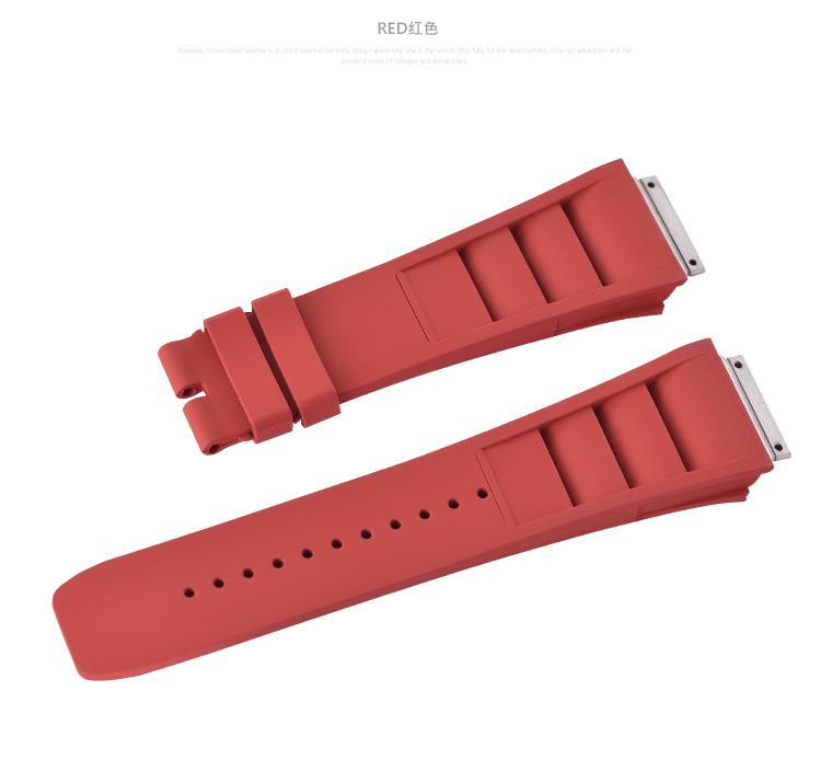 Richard Mille リチャード・ミラー RM010 RM029用 Vagenari ラバー ウオッチ ストラップ 赤 Red ベルト