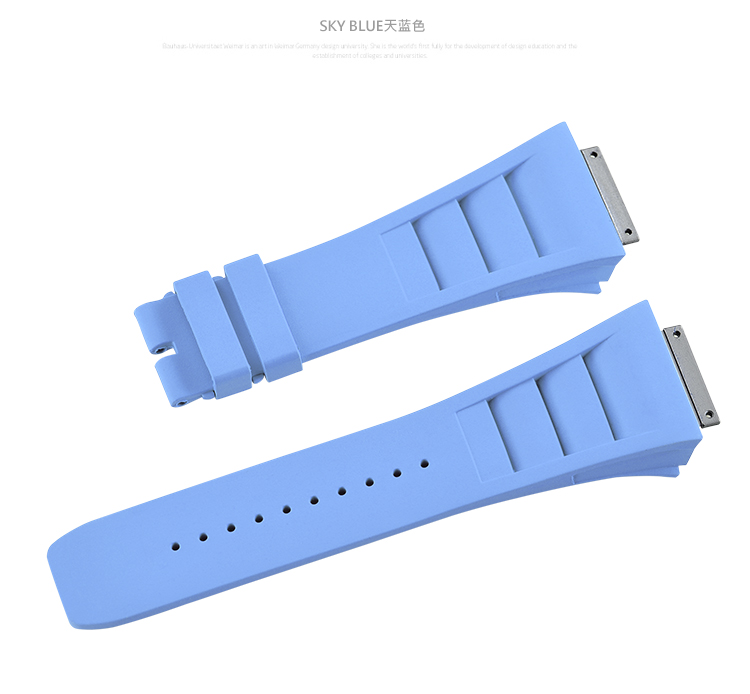 Richard Miller/リチャード・ミラー RM030 RM035 RM055に適用 Vagenari ラバー ストラップ/ベルト ブルー