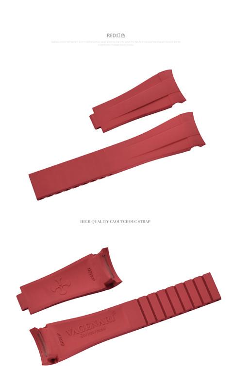 Rolex/ロレックス Oyster Pepetual/オイスターパーペチュアル 39mm 114300に適用 VAGENARI ラバー ストラップ レッド