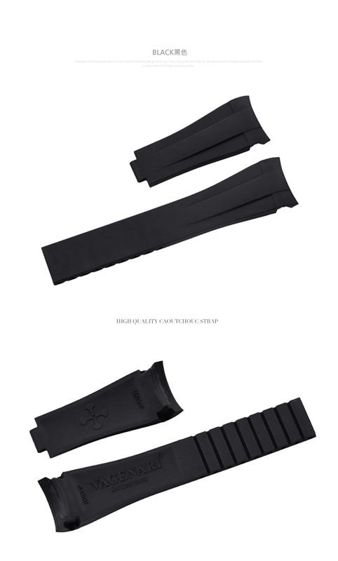 Rolex/ロレックス Oyster Pepetual/オイスターパーペチュアル 39mm 114300に適用 VAGENARI ラバー ストラップ ブラック