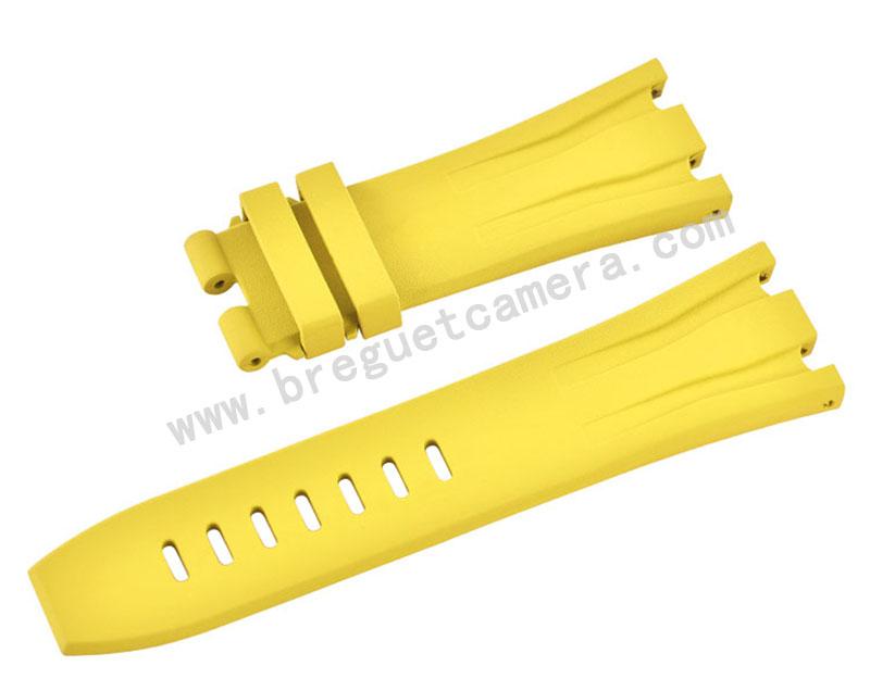 Audemars Piguet/オーデマピゲ Royal Oak Offshore/ロイヤル オーク オフショア 44mm AP 26400 26401適用Vagenari ラバー ストラップ/ベルト 黄色