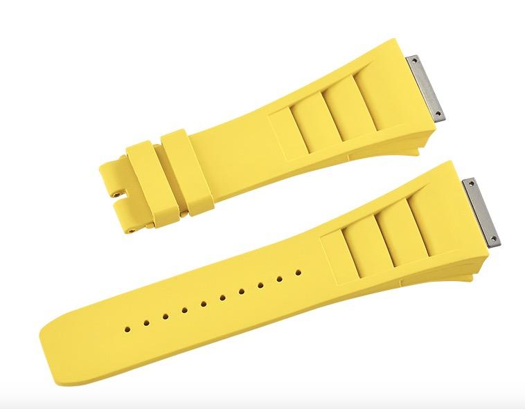 Richard Mille リチャード・ミラー RM011適用する Vagenari ラバー ウオッチ ストラップ 黄色 Yellow
