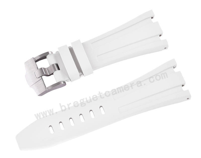 AUDEMARS PIGUET/オーデマピゲ AP 42mm 26470 15710 15703に適用にVagenari ラバー ストラップ/ベルト ホワイト