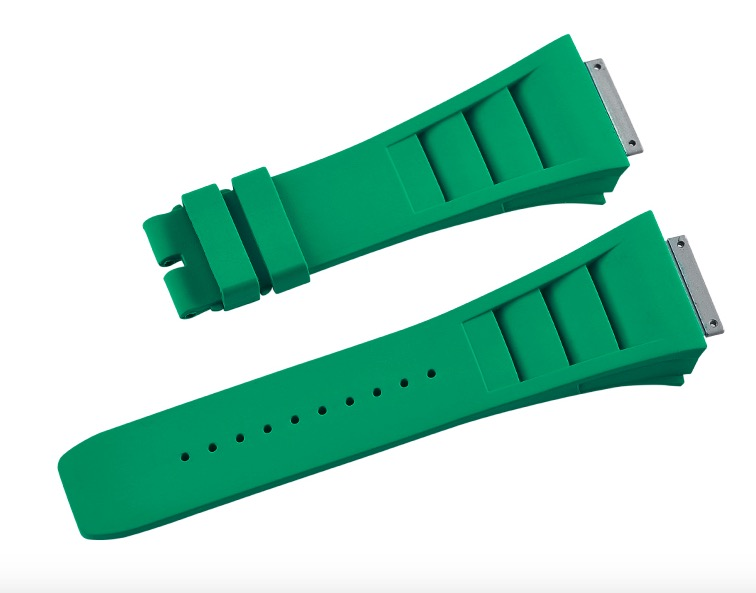 Richard Mille リチャード・ミラー RM030 RM035 RM055用ベル Vagenari ラバー ウオッチ ストラップ グリーン 緑 Green