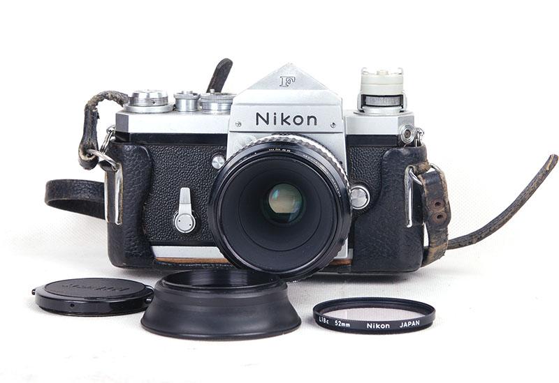 激安 現状品Nikonニコン F シルバーボディ+micro-Nikkor 55mm 3.5