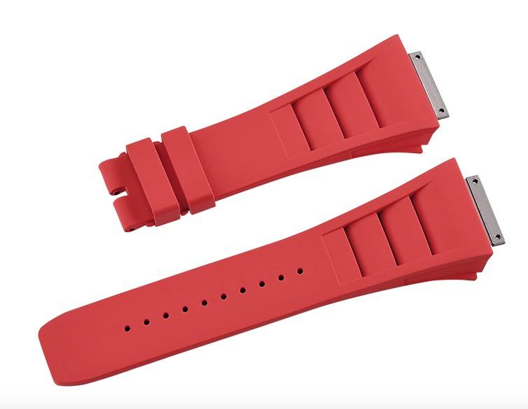 Richard Mille/リチャード・ミラー RM030 RM035 RM055に適用 Vagenari ラバー ストラップ/ベルト 赤
