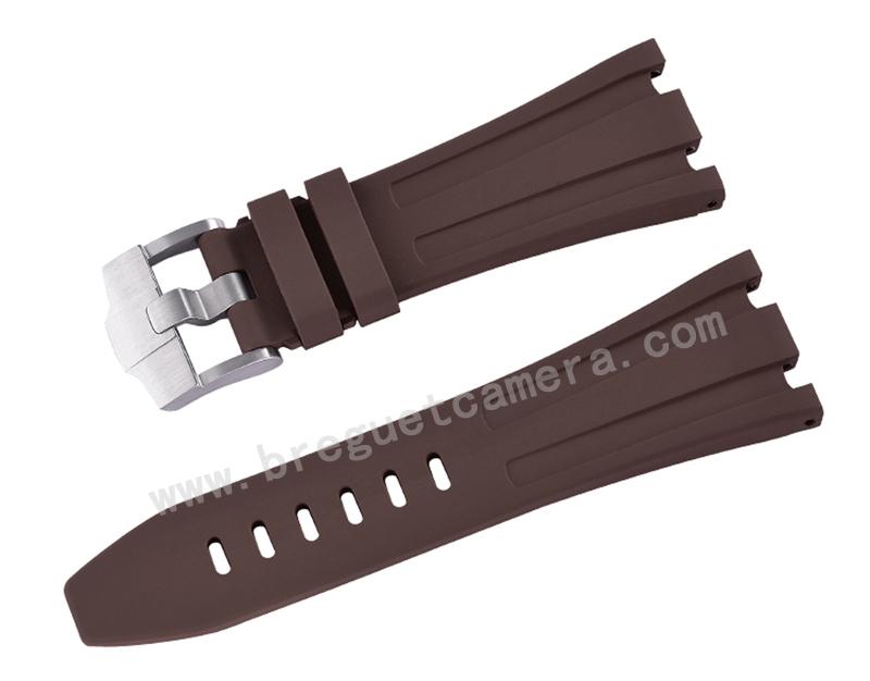 AUDEMARS PIGUET/オーデマピゲ AP 42mm 26470 15710 15703に適用にVagenari ラバー ストラップ/ベルト ブラウン