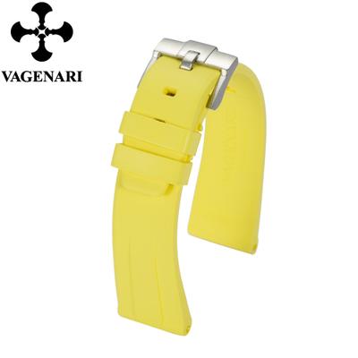 All type/通用タイプ Vagenari 22mm ラバー ストラップ/ベルト バックル付き 黄色