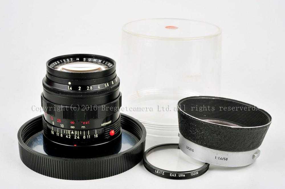 ライカ leica summilux 50mm f1.4 ブラックペイント 12521Gフード フィルター