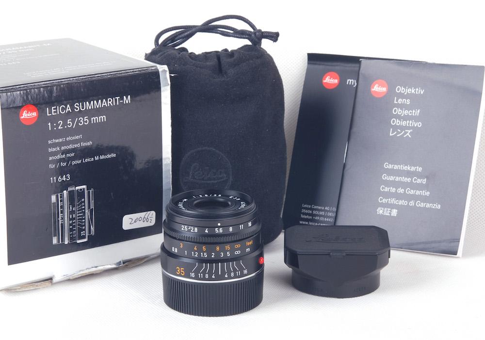 【コレクション品】Leica/ライカ Summarit-M 35/2.5 ブラック レンズ11643 6bit 新同品 #jp20066
