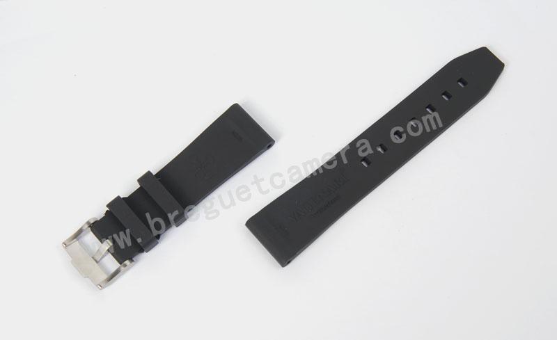 All type/通用タイプ Vagenari 22mm ラバー ストラップ/ベルト バックル付き ブラック