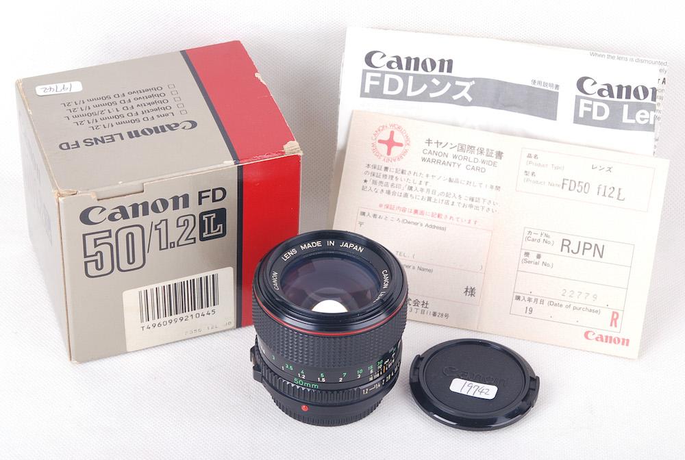 キャノンCanon FD 50mm F1.2 L 箱付き#jp19742