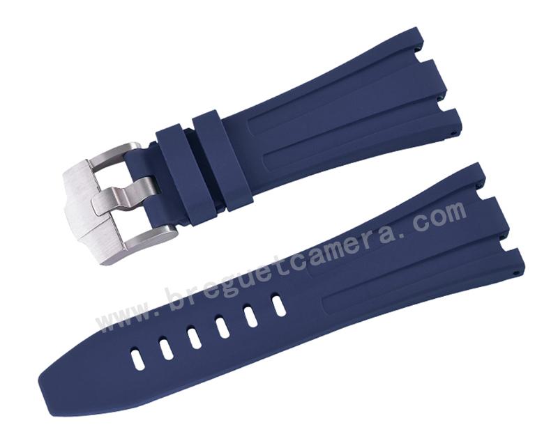 AUDEMARS PIGUET/オーデマピゲ AP 42mm 26470 15710 15703に適用にVagenari ラバー ストラップ/ベルト ブルー