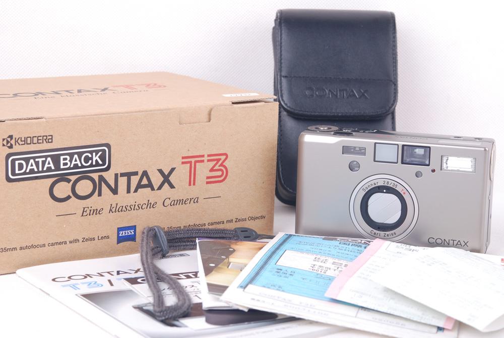 Contax/コンタックス T3 シャンペンカラー カメラセット data back セット#HK7831