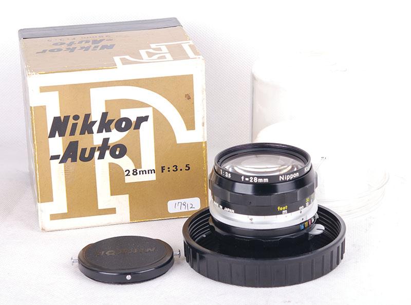 ニコンNikon NIKKOR-H Auto 28mm f3.5 Nippon kogaku 元箱付