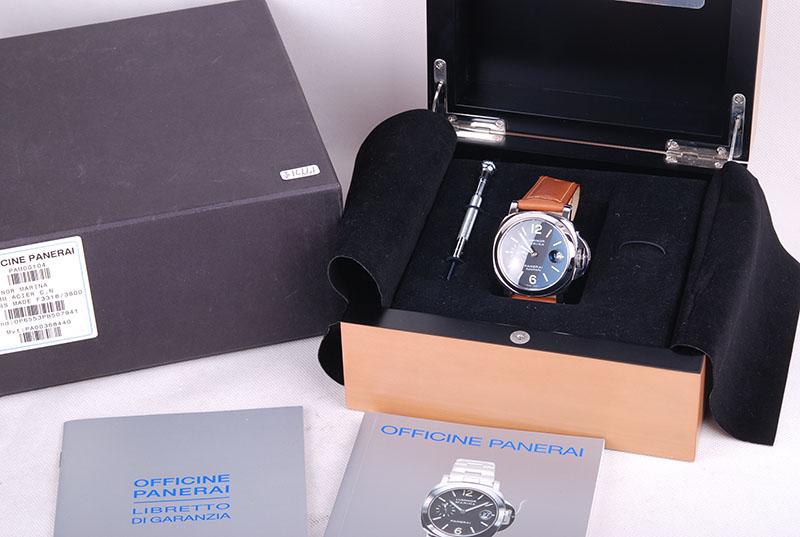 激安パネライ ルミノール マリーナ PAM00104 自動巻 44mm 箱付 美品