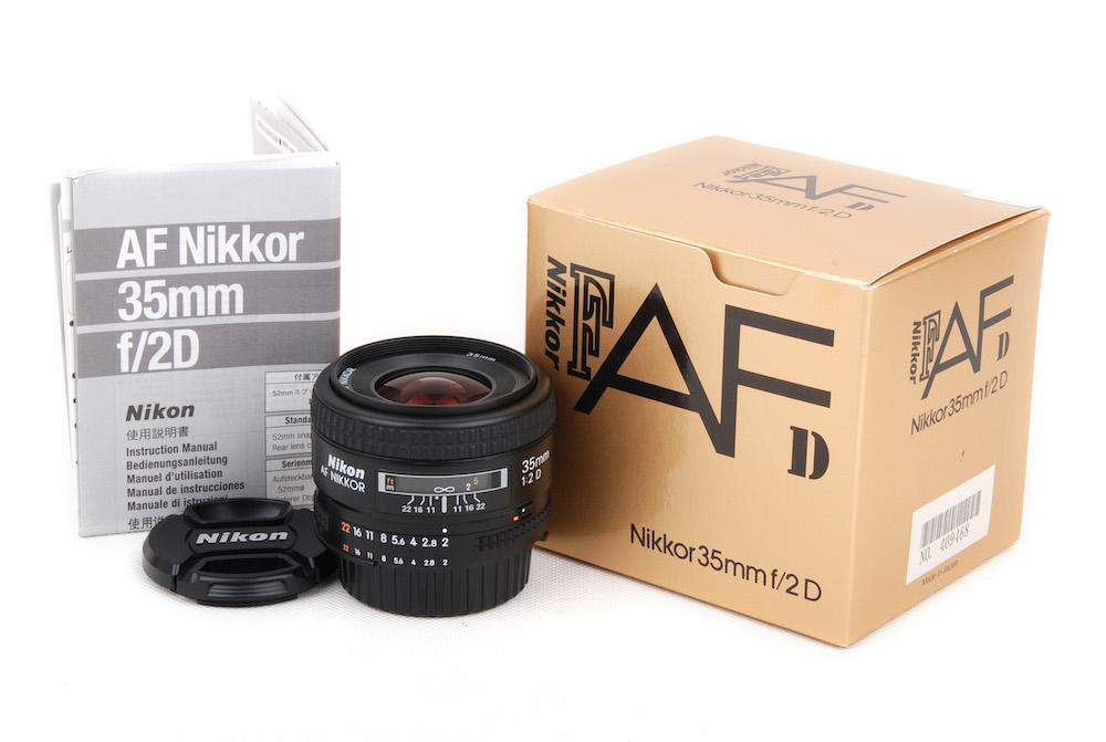 【美品】Nikon/ニコン AF Nikkor/ニッコール 35mm F2 D 箱付き レンズ#jp23561