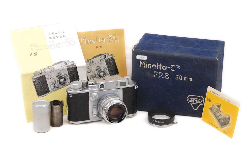 【良品】Minolta/ミノルタ Minolta-35 IIシルバーボディ+CHIYOKO SUPER ROKKOR 50/2 C セット #jp23987