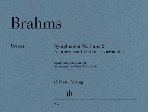 14時までに決済を完了したご注文は当日出荷いたします 輸入楽譜 ピアノ 期間限定 1台4手 ブラームス:交響曲 第1番 第2番 Op.68 ニ長調 ハ短調 Op.73 倉庫