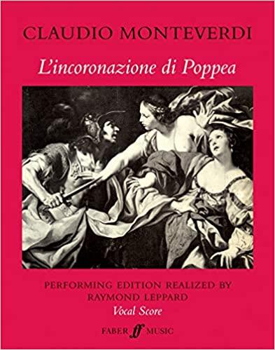 輸入楽譜/声楽/ヴォーカルスコア/モンテヴェルディ:歌劇「ポッペアの戴冠」