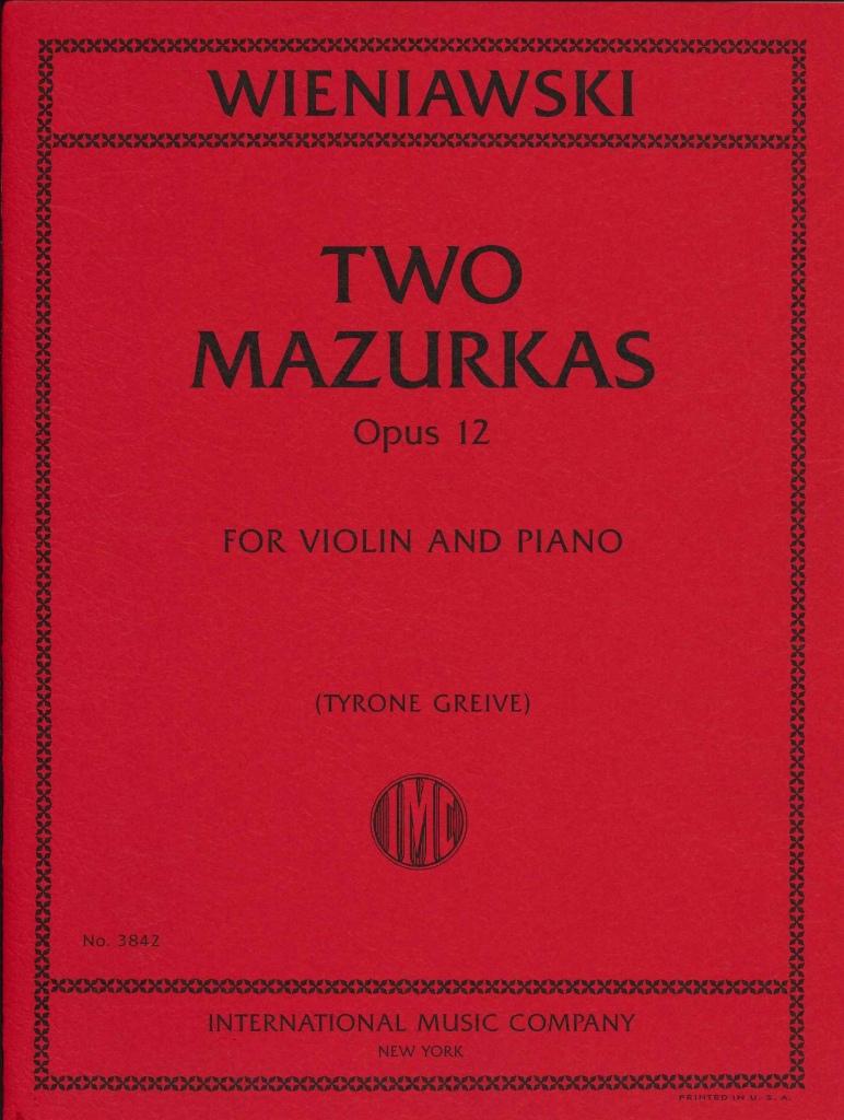 業界No.1 14時までに決済を完了したご注文は当日出荷いたします 輸入楽譜 バイオリン ヴァイオリン 新生活 Op.12 ヴィエニャフスキ:2つのマズルカ