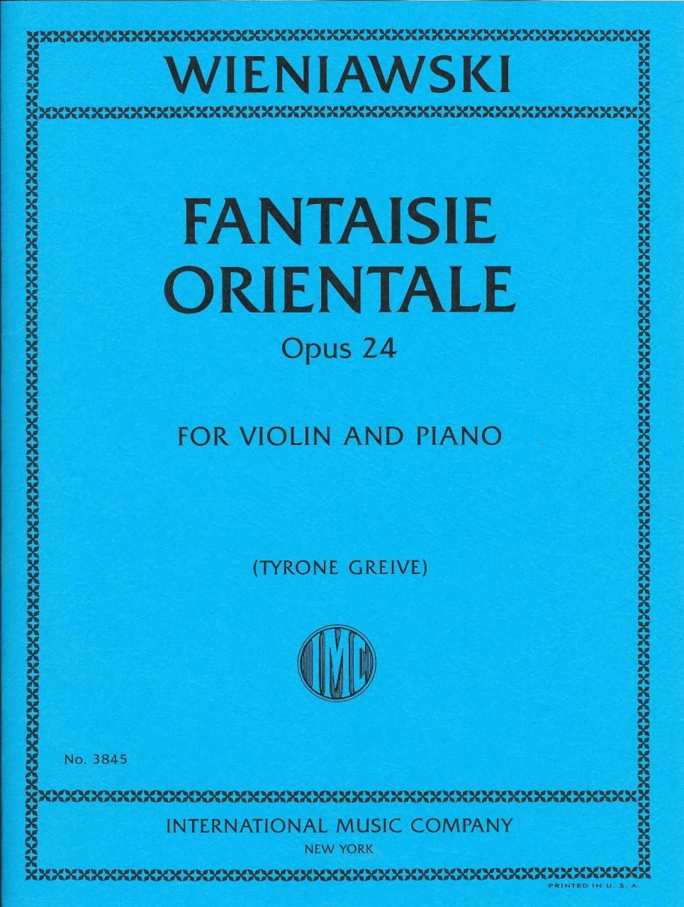 セール価格 14時までに決済を完了したご注文は当日出荷いたします 輸入楽譜 バイオリン 新作入荷 ヴァイオリン Op. 24 ヴィエニャフスキ:東洋風幻想曲