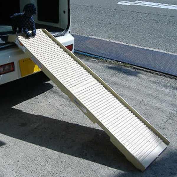 送料無料 犬用 介護 ペットステップ・ロングサイズ スロープ 歩行補助 耐荷重~225kg キャッシュレス 還元