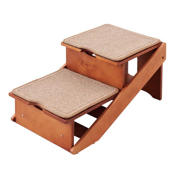 階段がスロープに!スロープが階段に! 【スーパーSALE限定】 送料無料 木製2wayステップ アドバンス ペット用 (犬・猫) 階段 スロープ 高齢犬 老犬 介護