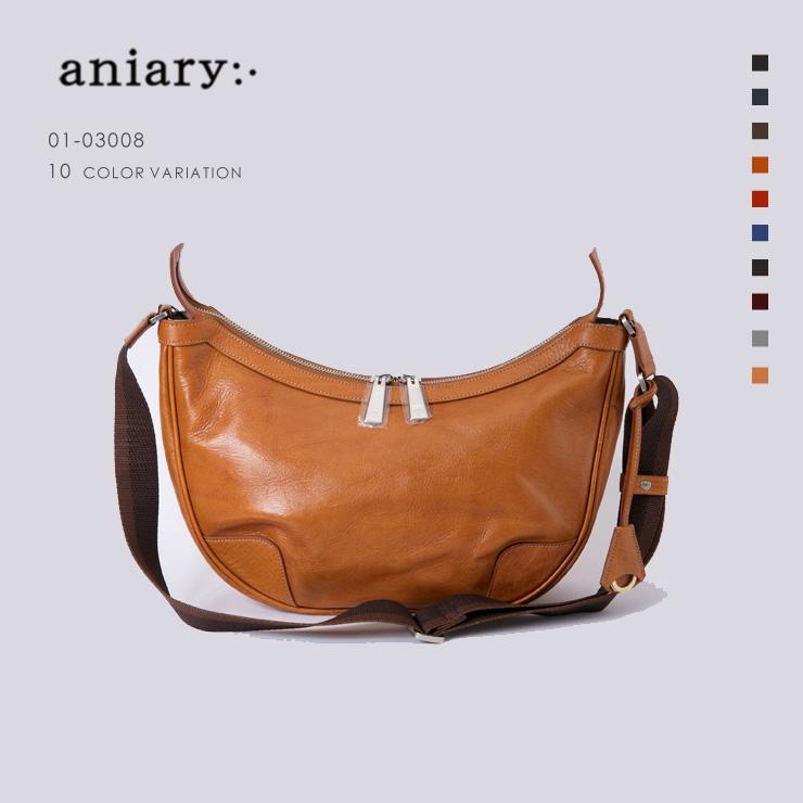 【aniary|アニアリ】Antique Leather アンティークレザー 牛革 Shoulder ショルダーバッグ 01-03008 [送料無料]