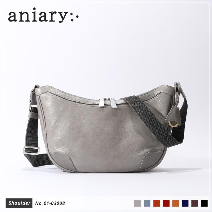 【新色 2019 S/S】【aniary|アニアリ】Antique Leather アンティークレザー 牛革 Shoulder ショルダーバッグ 01-03008 メンズ 斜め掛け [送料無料]