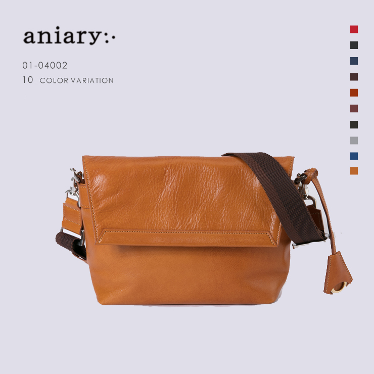 アニアリ・aniary メッセンジャー バッグ【送料無料】アンティークレザー Messenger Bag 01-04002
