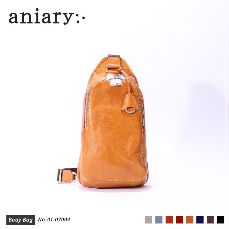 【新色 2019 S/S】【aniary アニアリ】Antique Leather アンティークレザー 牛革 Body Bag ボディバッグ 01-07004 メンズ 斜め掛け [送料無料]