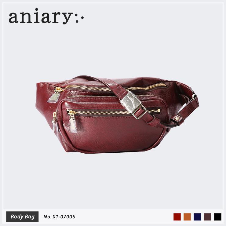 【aniary|アニアリ】Antique Leather アンティークレザー 牛革 Body Bag ボディバッグ 01-07005 メンズ 斜め掛け [送料無料]