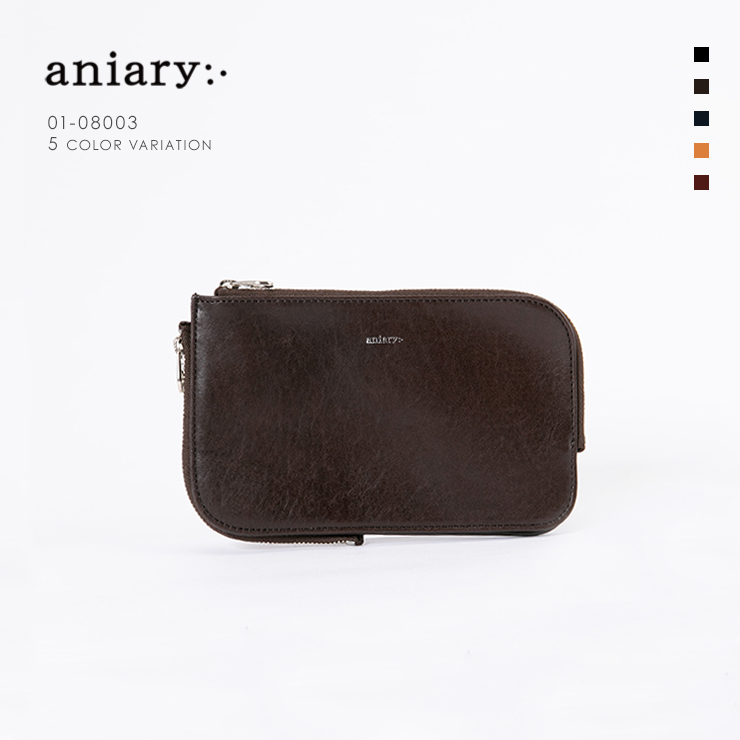 【aniary|アニアリ】Antique Leather アンティークレザー 牛革 Clutch クラッチバッグ 01-08003 メンズ [送料無料]