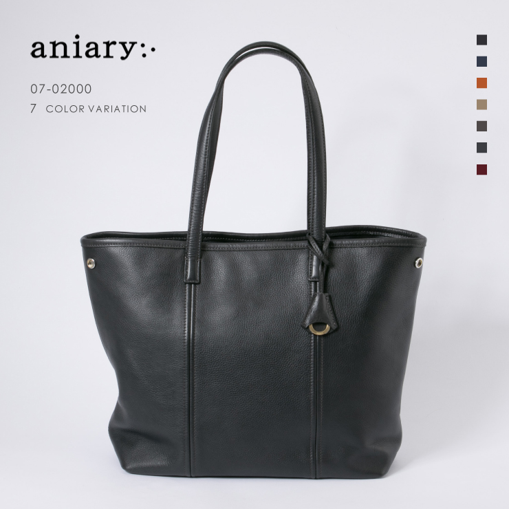 【aniary|アニアリ】Shrink Leather シュリンクレザー 牛革 Tote トートバッグ 07-02000 メンズ [送料無料]