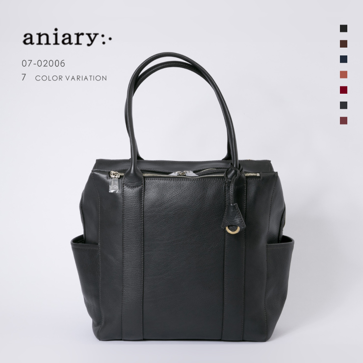 【aniary アニアリ】Shrink Leather シュリンクレザー 牛革 Tote トートバッグ 07-02006 メンズ [送料無料]