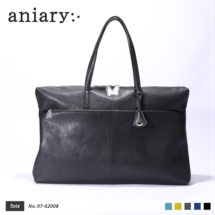 【aniary|アニアリ】Shrink Leather シュリンクレザー 牛革 Tote トートバッグ 07-02008 [送料無料]