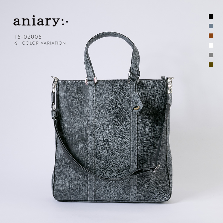【aniary|アニアリ】Grind Leather グラインドレザー 牛革 Tote トートバッグ 15-02005 メンズ [送料無料]