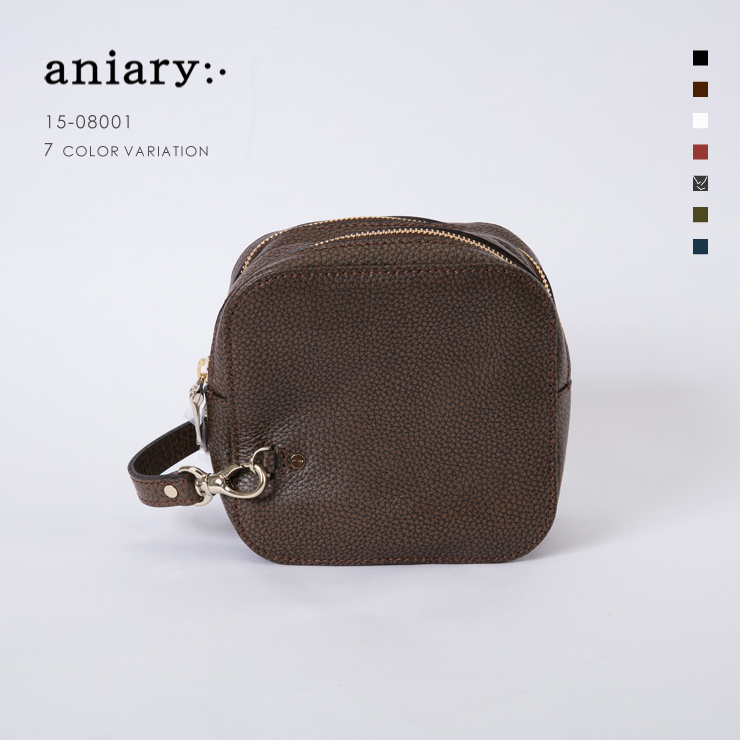 【aniary|アニアリ】Grind Leather グラインドレザー 牛革 Clutch クラッチバッグ 15-08001 [送料無料]